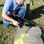 Cleaning Headstones in Waterloo