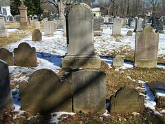 Headstones at Allerton Cemetery